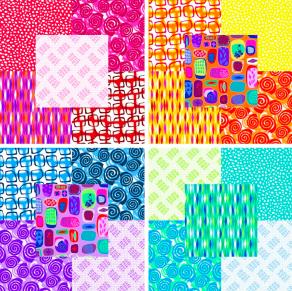 Abstract Garden Fabrics
